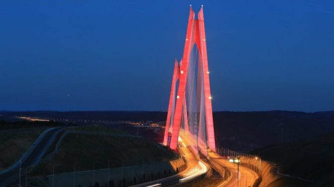 Yavuz Sultan Selim Köprüsü Uçak İkaz Lambası Sistemi