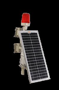 Wetra tekli güneş enerjili uçak ikaz lambası