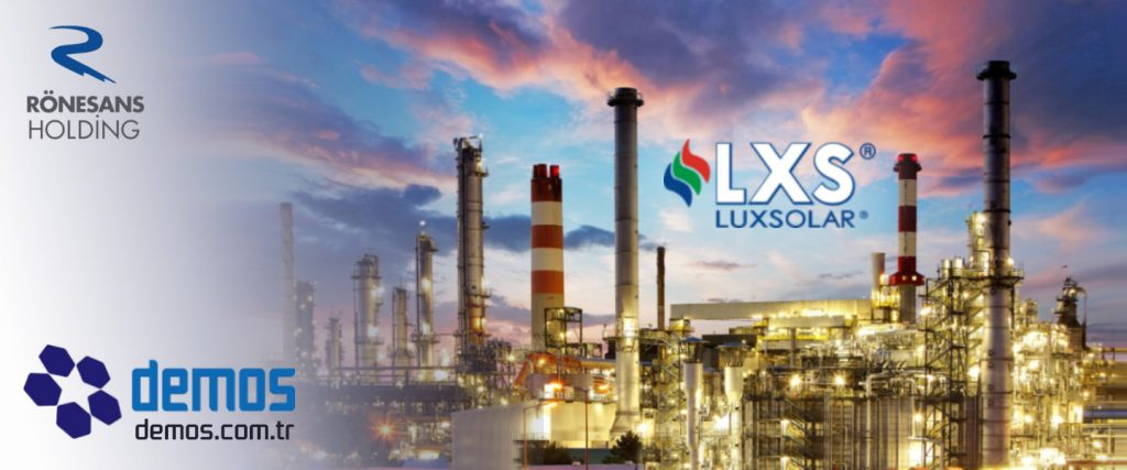 Ronesans Turkmenistan Gas To Gasoline Refinery Chimney Aviation Obstruction Lights